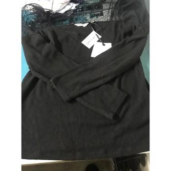 Vêtements Femme Tops / Blouses Naf Naf Top épaules plumetis naf naf Noir