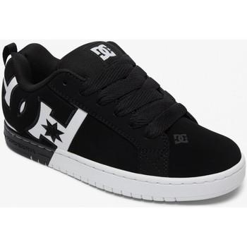 Chaussures Homme Chaussures de Skate DC Shoes COURT GRAFFIK black white black Noir