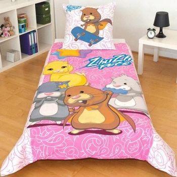 Maison & Déco Parures de lit Le Monde Des Animaux Parure de lit Zhu Zhu Pets Rose