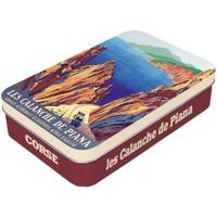 Maison & Déco Paniers, boites et corbeilles Corse Boîte en métal à charnière pour Savonnette - Marron