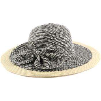Chapeaux Nyls Création Chapeau Paille Lubly Noir et Crème