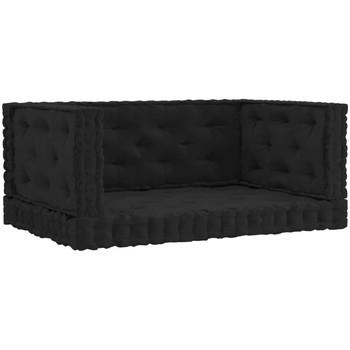 Parures de lit Coussins Vidaxl  Noir