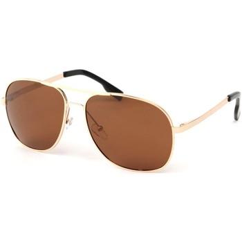 Montres & Bijoux Lunettes de soleil Eye Wear Lunettes Polarisante James avec monture dorée Jaune