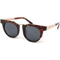 Montres & Bijoux Lunettes de soleil Eye Wear Lunettes Soleil Luka avec monture en écailles Marron Marron