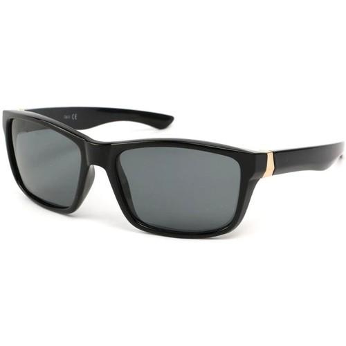 Montres & Bijoux Lunettes de soleil Eye Wear Lunettes Polarisante Number avec monture Noire Noir