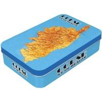 Maison & Déco Paniers, boites et corbeilles Corse Boîte en métal à charnière pour Savonnette - Bleu