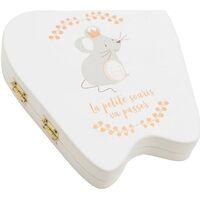 Maison & Déco Paniers, boites et corbeilles Le Monde Des Animaux Grande Boîte à dents Mathis Blanc
