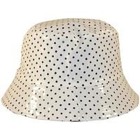 Accessoires textile Femme Chapeaux Chapeau-Tendance Bob de pluie vernis pois Blanc