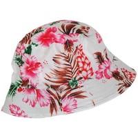 Accessoires textile Chapeaux Chapeau-Tendance Bob tissus fleurs Rouge