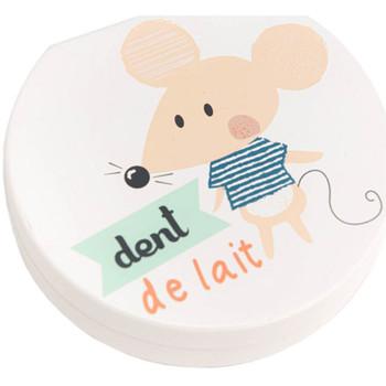 Maison & Déco Paniers, boites et corbeilles Le Monde Des Animaux Boîte à dents de lait QUENOTTE HERLEY Blanc