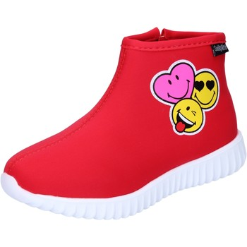 Chaussures Fille Bottines Smiley BJ990 Rouge