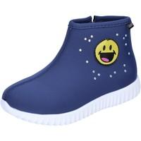 Chaussures Fille Bottines Smiley BJ991 Bleu