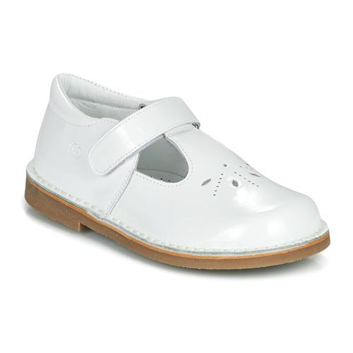 Chaussures Fille Ballerines / babies Citrouille et Compagnie OTALI Blanc vernis