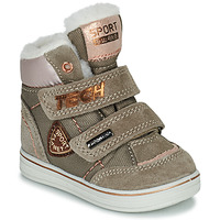 Chaussures Fille Boots Citrouille et Compagnie PALADIN Taupe/rose