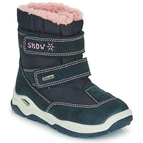 Chaussures Garçon Bottes de neige Citrouille et Compagnie POUDOU Bleu/rose
