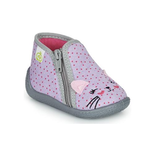 Chaussures Fille Chaussons Citrouille et Compagnie PASTA Gris