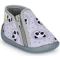 Chaussures Enfant Chaussons Citrouille et Compagnie PACARONI Gris