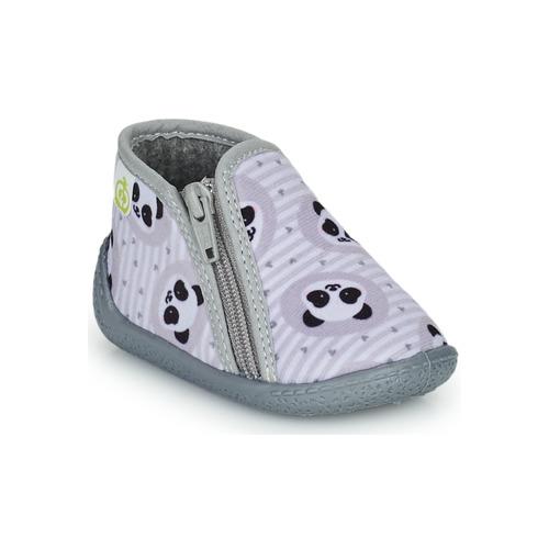 Chaussures Enfant Chaussons Citrouille et Compagnie PIFOU Gris