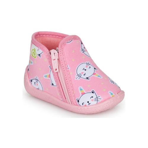 Chaussures Fille Chaussons Citrouille et Compagnie PAGLIATELLE Rose