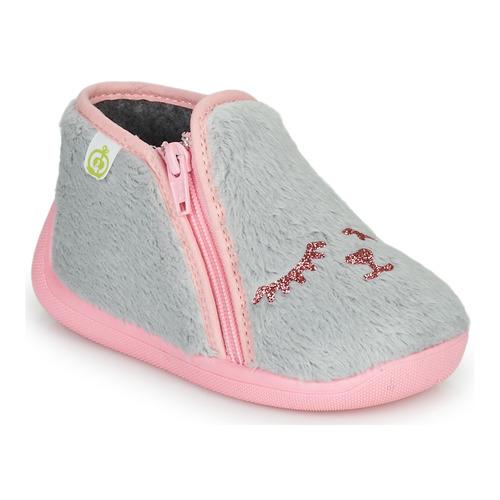 Chaussures Fille Chaussons Citrouille et Compagnie PRADS Gris