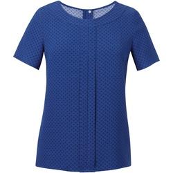Vêtements Femme Tops / Blouses Brook Taverner Crepe De Chine Bleu roi/Bleu marine