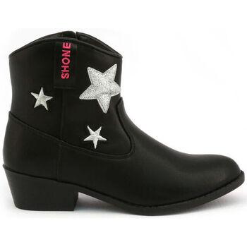 Chaussures Fille Bottines Shone - 026801 Noir