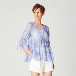 Vêtements Femme Tops / Blouses Smart & Joy Ciboulette Bleu azur