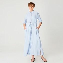 Vêtements Femme Robes longues Smart & Joy Cannelle Bleu azur