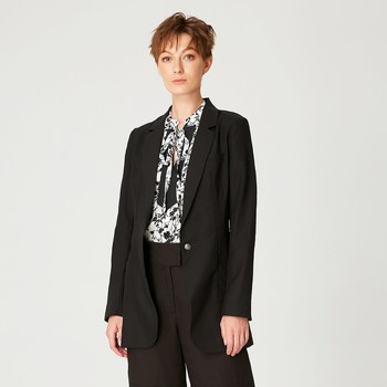 Vêtements Femme Vestes / Blazers Smart & Joy Kororima Noir