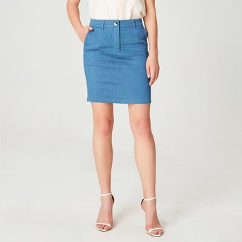 Vêtements Femme Jupes Smart & Joy Ras Bleu céladon