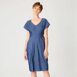Vêtements Femme Robes courtes Smart & Joy Néon Bleu ardoise