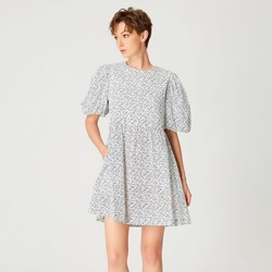 Vêtements Femme Robes courtes Smart & Joy Soufre Blanc