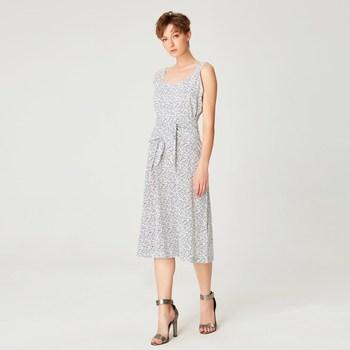Vêtements Femme Robes longues Smart & Joy Amande Blanc
