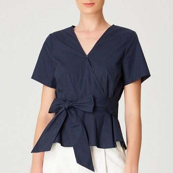 Vêtements Femme Tops / Blouses Smart & Joy Brugnon Bleu nuit