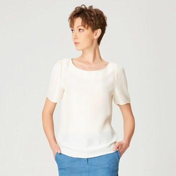 Vêtements Femme T-shirts manches courtes Smart & Joy Caïmite Blanc