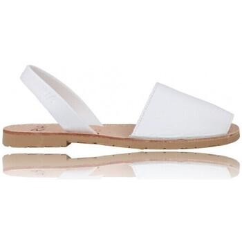 Chaussures Femme Sandales et Nu-pieds Ria Sandalias Menorquinas Abarcas Mujer de  Pau 20002-S2 Blanc