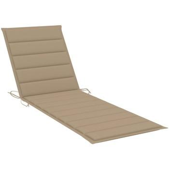 Maison & Déco Coussins Vidaxl Coussin de chaise longue 200 x 60 x 4 cm Beige