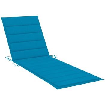 Maison & Déco Coussins Vidaxl Coussin de chaise longue 200 x 60 x 4 cm Bleu