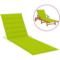 Maison & Déco Coussins VidaXL Coussin de chaise longue 200 x 60 x 4 cm Vert