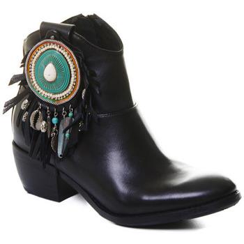 Chaussures Femme Bottines Rebecca White T0605 Noir