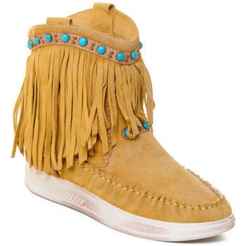 Chaussures Femme Bottines Rebecca White T6016 Jaune