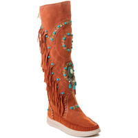 Chaussures Femme Bottes Rebecca White T6012 Rouge