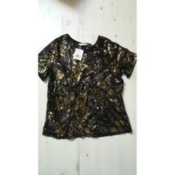 Vêtements Femme T-shirts manches courtes Camaieu T-shirt Camaïeu dentelle et sequins Autres