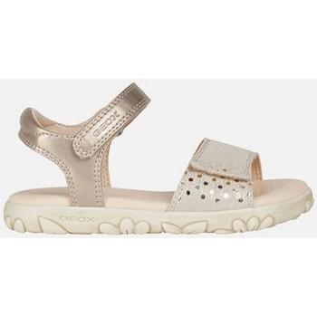 Chaussures Fille Sandales et Nu-pieds Geox J SAND HAITI BEIGE Beige