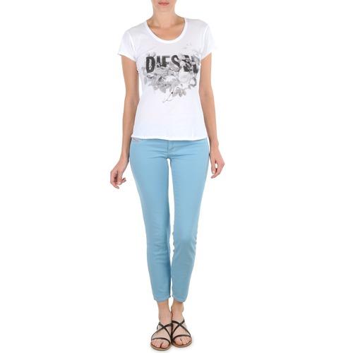 Vêtements Femme Pantacourts Diesel LIVIER-ANKLE Bleu