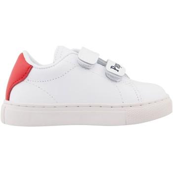 Chaussures Enfant Baskets basses Bons baisers de Paname Baskets en cuir Mini Edith Papa Maman BLANC
