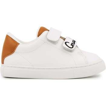 Chaussures Fille Baskets basses Bons baisers de Paname Baskets en cuir Mini Edith Grand Frère BLANC