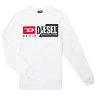Vêtements Enfant T-shirts manches longues Diesel TDIEGOCUTY ML Blanc