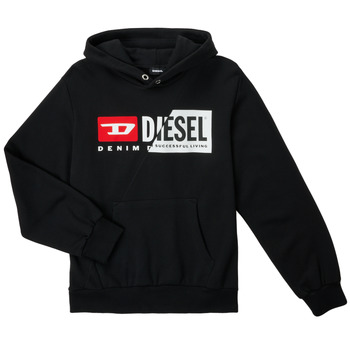Vêtements Enfant Sweats Diesel SGIRKHOODCUTYX OVER Noir