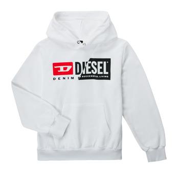 Vêtements Enfant Sweats Diesel SGIRKHOODCUTYX OVER Blanc